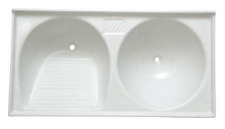 Tanque sintético duplo (branco) 1.10x0.55