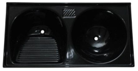Tanque mármore sintético (preto) 1.10x0.55