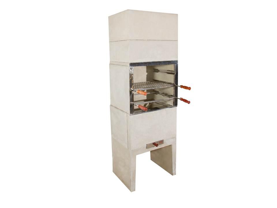 Churrasqueira Pré-Moldada Predial 4 Espetos (65 cm - concreto liso)