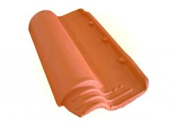Telha Americana vermelha com resina natural (Cerâmica Minas)