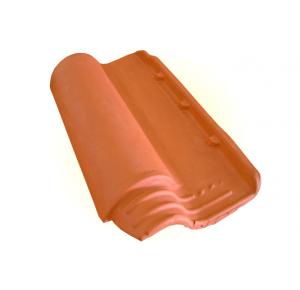Telha Americana vermelha com resina incolor (Cerâmica Minas)