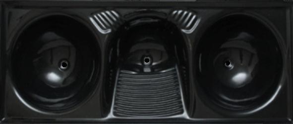 Tanque sintético triplo (preto) 1,40x52