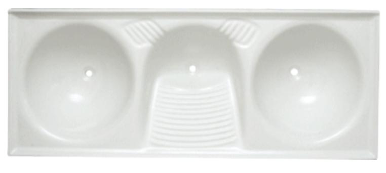 Tanque sintético triplo (branco) 1,40x52