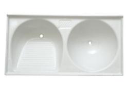 Tanque mármore sintético duplo 1.00x0.50