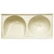 Tanque mármore sintético duplo (bege) 1.10x0.55