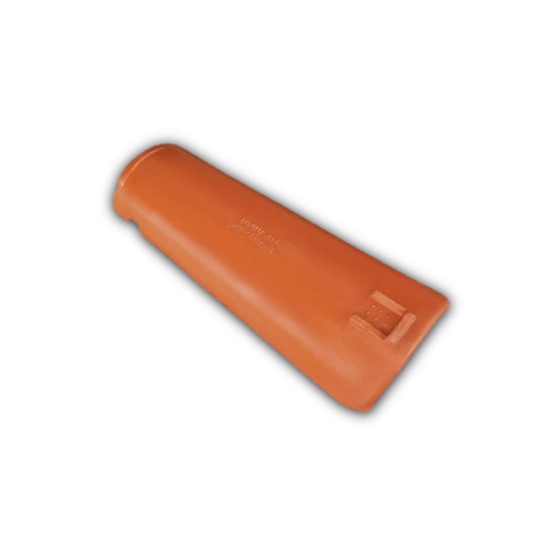 Telha Paulista vermelha com resina - Bica (Cerâmica União)