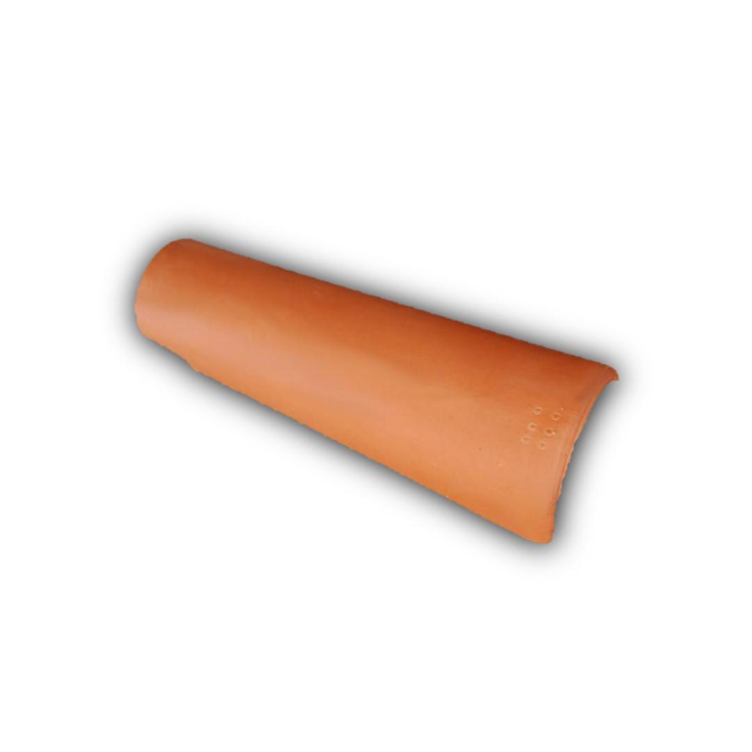 Telha Paulista vermelha com resina - Capa (Cerâmica União)