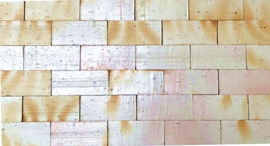 Revestimento (tijolo à vista) plaqueta texturizada rústica branco 10x20