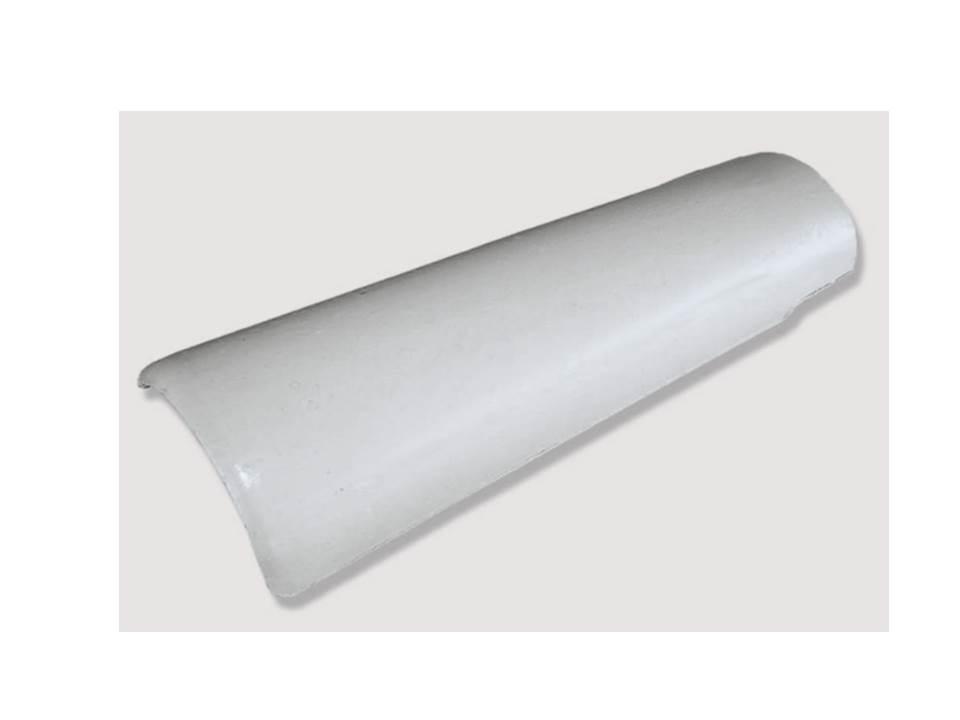 Telha Universal branca com resina (Cerâmica União)